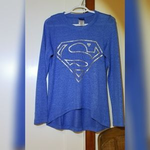 Superman Hi low Gold print Top